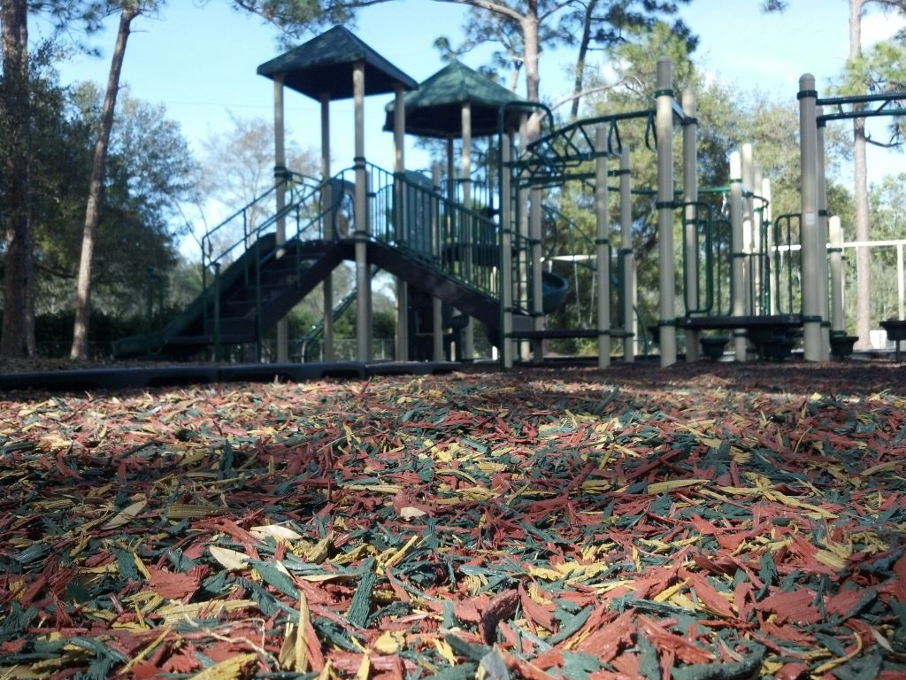 Palm Beach County Safety Surfacing-Bonded Rubber Mulch